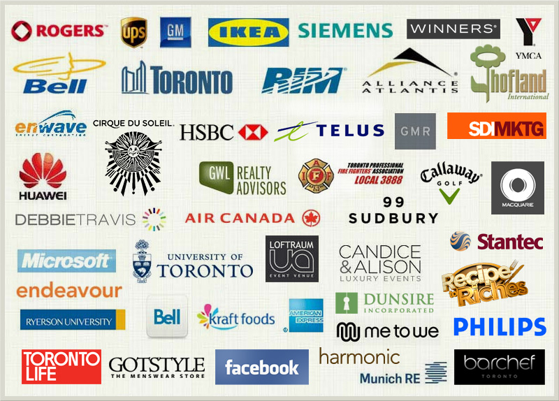 Treeline Catering Corporate Clients | Rogers, GM, IKEA, Winners, Bell, Air Canada, Recipe to Riches, Stantec, UPS